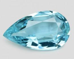 1.52 Cts Un Heated  Santa Maria Blue Color Natural Aquamarine Loose Gemston
