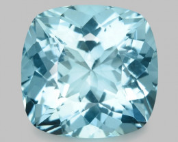 3.42 Cts Un Heated  Santa Maria Blue Color Natural Aquamarine Loose Gemston