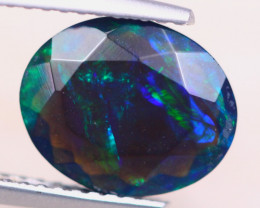 1.68ct Natural Ethiopian Welo Solid Smoked Faceted Opal Lot LZ6843
