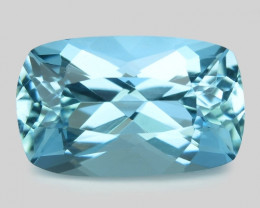 1.29 Cts Un Heated  Santa Maria Blue  Natural Aquamarine Loose Gemstone