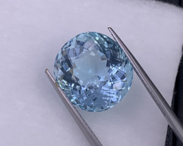 13.27 Cts Fine Quality Santa Maria Color Natural Aquamarine Very Clean