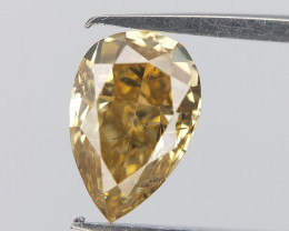 Dazzling Drop Diamond , Pear Brilliant Cut , 0.39cts