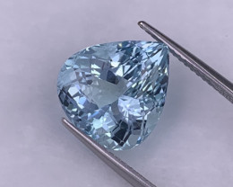 7.67 Cts Fine Grade Eye Clean Santa Maria Color Natural Aquamarine