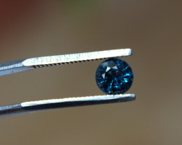 0.75ct VVS Blue Spinel Round - Certified