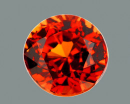 4.50 mm Round 0.58ct Orange Red Zircon [VVS}