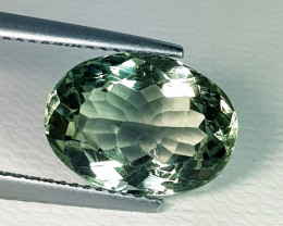 5.63 ct Beautiful Gem Oval Cut Natural Green Amethyst