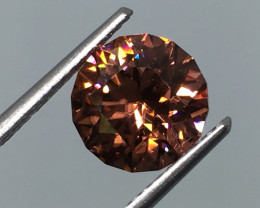 3.32 Carat VVS Zircon Master Cut Apricot Incredible Flash and Quality!