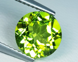 3.02 ct  AAA  Quality Gem  Round Cut Top Luster Natural Peridot