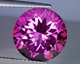 4.25 ct AAA Quality Gem Excellent Round Cut Natural Pink Topaz