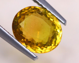 1.92Ct Natural Yellow Tourmaline Oval Cut Lot A1114