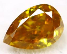Greenish Orange Diamond 0.10Ct Natural Untreated Fancy Diamond AT0131