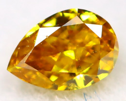 Yellowish Orange Diamond 3.3mm Natural Untreated Fancy Diamond AT0169