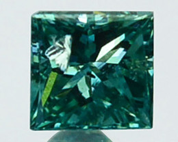 Stunning!!!  0.05 Cts Natural Diamond Greenish Blue 1.70mm Square princess