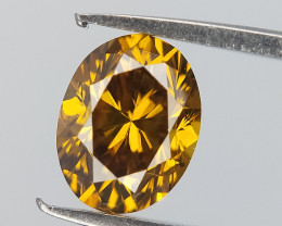 Bright Sparkle Diamond , Oval Brilliant Cut , Greenish Yellow Colour , 0.35