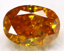 Yellowish Orange Diamond 0.12Ct Natural Untreated Fancy Diamond AT0177