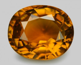 0.99 Cts Un Heated Orange Color Natural Tourmaline Loose Gemstone