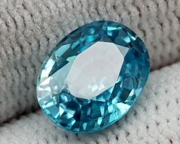 2.75CT NATURAL BLUE ZIRCON BEST QUALITY GEMSTONE IIGC009