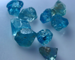 25.50 CT Natural - Unheated Blue Zircon Rough Lot