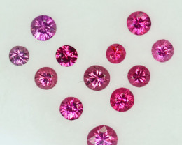 Vibrant Pink! 0.96Cts Natural Pinkish Pink Spinel Round 3mm Parcel