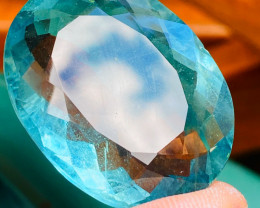 102CT FLUORITE - LIKE PARAIBA BLUE - RARE COLOR !!