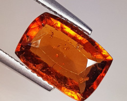 5.08 ct AAA Grade Gem Rectangular Cut Natural Hessonite Garnet