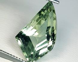 7.28 ct Exclusive Big Gem Fancy Cut Natural Green Amethyst
