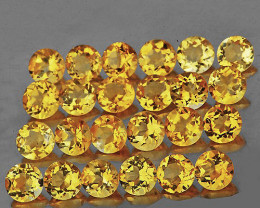 1.00 mm Round 100 pcs Golden Yellow Citrine [VVS]