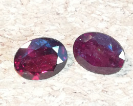 Rhodolite pair, 4.26ct, great stones perfect for jewelry!!