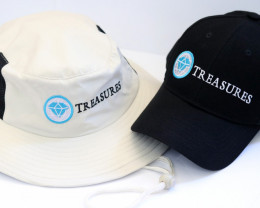 Treasures Baseball Cap and Bushmans hat    two items