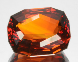 ~CUSTOM CUT~ 8.62 Cts Natural Madeira Orange Citrine Cushion Fancy Brazil