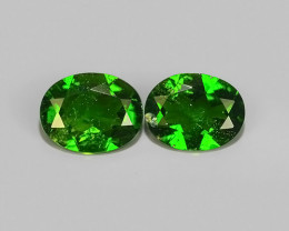 3.30 CTS NATURAL ULTRA RARE OVAL CHROME GREEN DIOPSIDE RUSSIA~