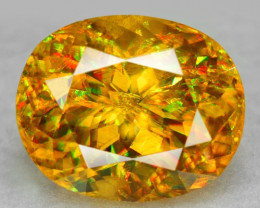 4.16 CT SPHENE WITH DRAMATIC FIRE AFGHANISTAN SP21