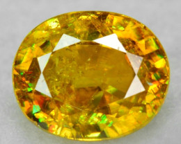 0.87 CT SPHENE WITH DRAMATIC FIRE AFGHANISTAN SP27