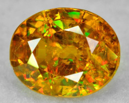 NATURAL SPHENE WITH DRAMATIC FIRE AFGHANISTAN SP37