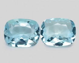 4.51 Cts Un Heated  Santa Maria Blue  Natural Aquamarine Loose Gemstone