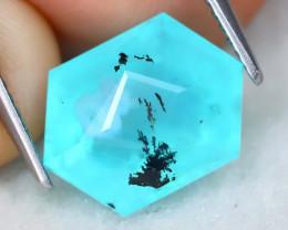 Paraiba Opal 3.90Ct Natural Precision Dendrite Peruvian Blue Opal AT0341