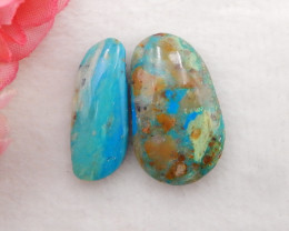 20.5cts Natural  Blue Opal Cabochons, October Birthstone, Blue Opal Cabocho