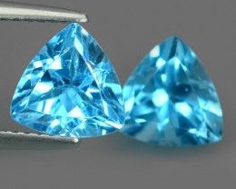 3.65 CTS INVESTMENT GEM~VIP BLUE TOPAZ~TRILLION~CUT EXCLUSIVE !!