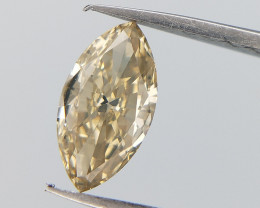 Champagne Tinted Diamond , Marquise Brilliant Cut , 0.35 cts