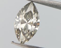 Light Slight Grey Diamond , Pear Brilliant Cut , 0.3 cts