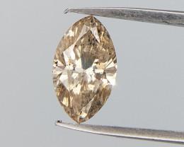 0.43 cts , Light Brown Diamond , Marquise Brilliant Cut ,