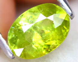Sphene1.08Ct Oval Cut Natural Vivid Green Color Sphene C2211