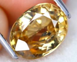 Yellow Zircon 2.44Ct VS Oval Cut Natural Yellow Zircon C2213