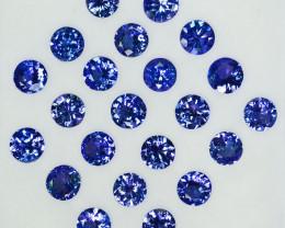 10.00Ct Natural Purple Blue Tanzanite Round 5mm Calibrated