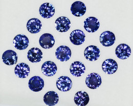 10.15Cts Natural Purple Blue Tanzanite 5mm Round 23Pcs Tanzania