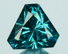 0.09Cts Natural Diamond Flashing Blue Tryangle  Africa