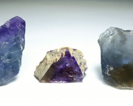 Amazing Natural color faceted grade rough Fluorite lot 275Cts-Pak