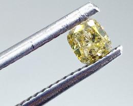0.30ct  Fancy grayish yellowish Green Diamond , 100% Natural Untreated