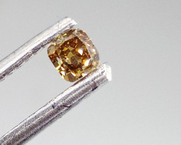 0.23ct  Fancy Deep Brown Green  Diamond , 100% Natural Untreated