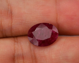 **No Reserve** 3.9ct Oval-Cut Ruby